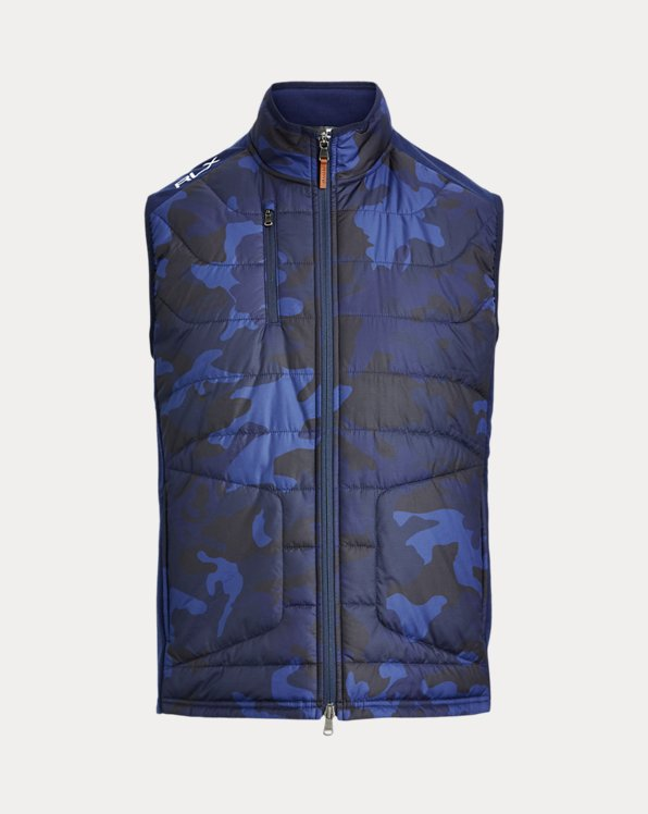 Gilet stretch a pannelli camouflage