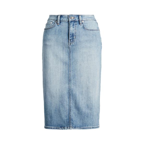 폴로 랄프로렌 Polo Ralph Lauren Denim Skirt,Indigo Haze Wash