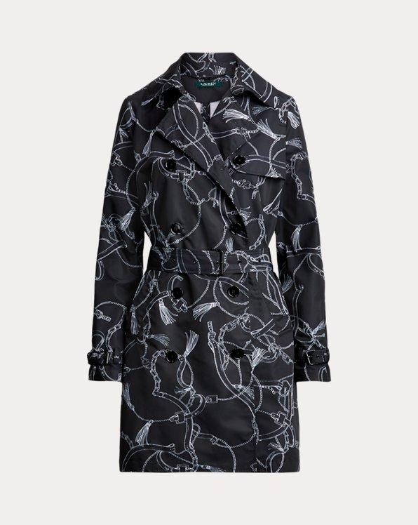 Print Taffeta Trench Coat