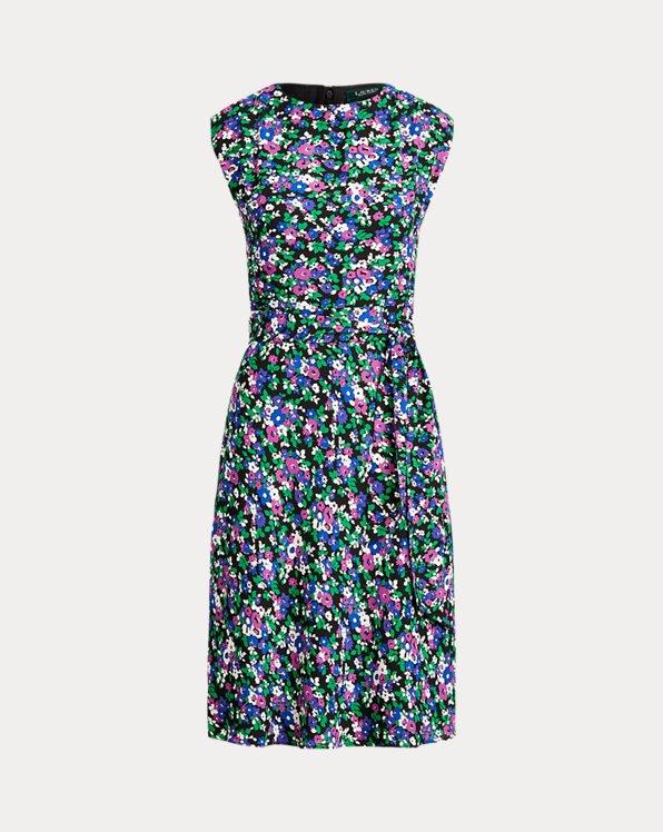 Georgette Cap-Sleeve Dress