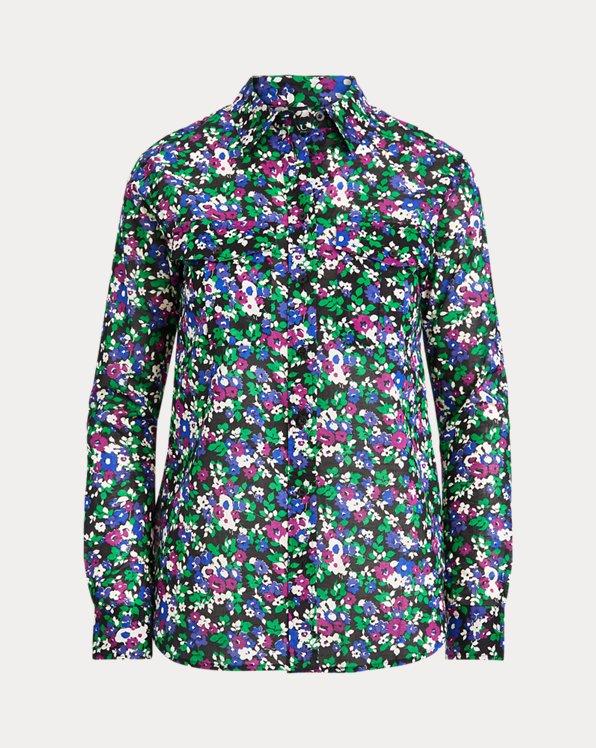 Camisa de algodón con estampado floral
