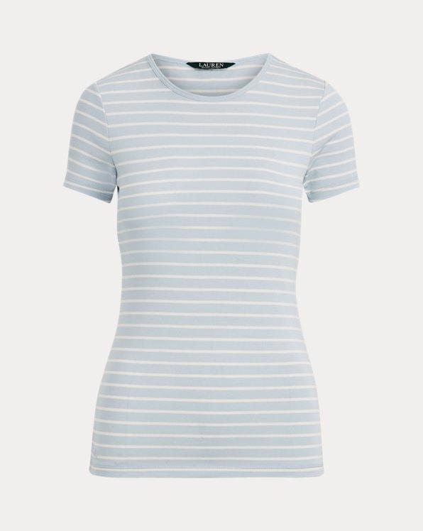 Striped Cotton-Blend Tee