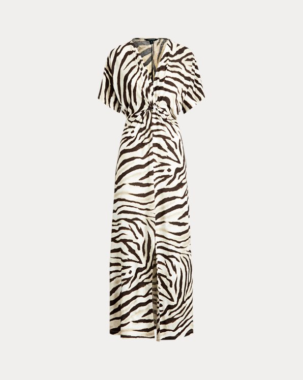 Print Linen Dress