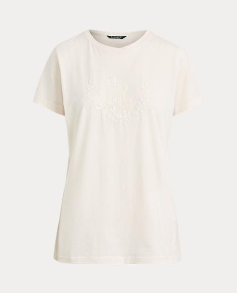 T-shirt perlé en jersey