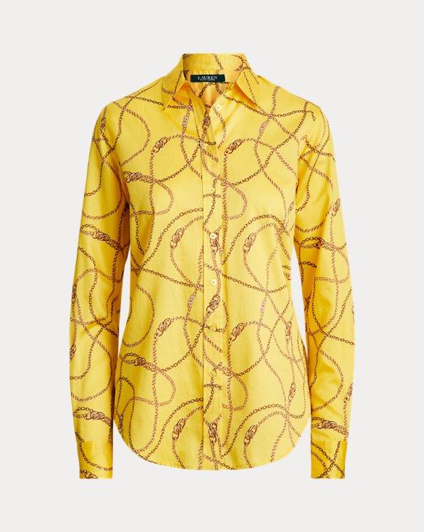 Print Cotton-Sateen Shirt