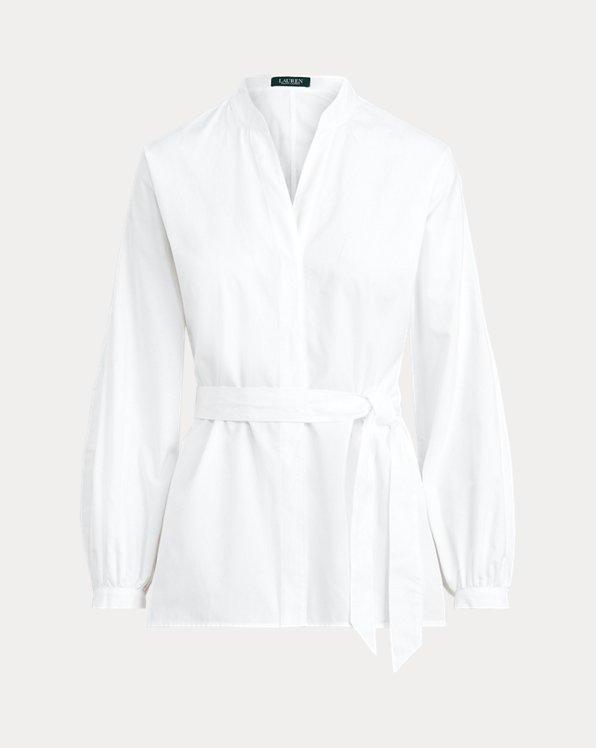 Tie-Waist Cotton Top