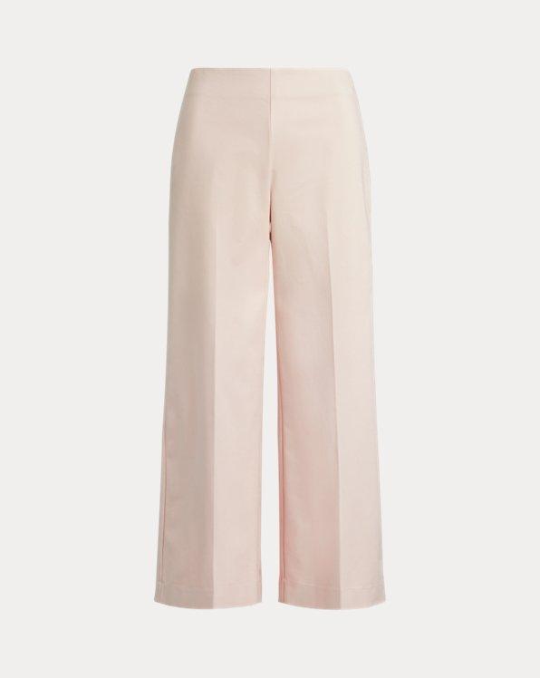 Cotton Wide-Leg Pant