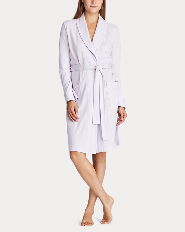 Herringbone Cotton-Blend Robe
