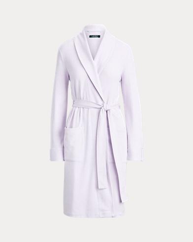 Herringbone Cotton-Blend Robe