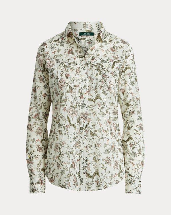 Camicia in cotone a fiori