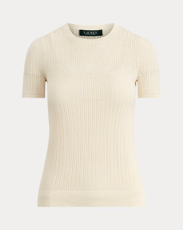 Pointelle Cotton-Blend Jumper