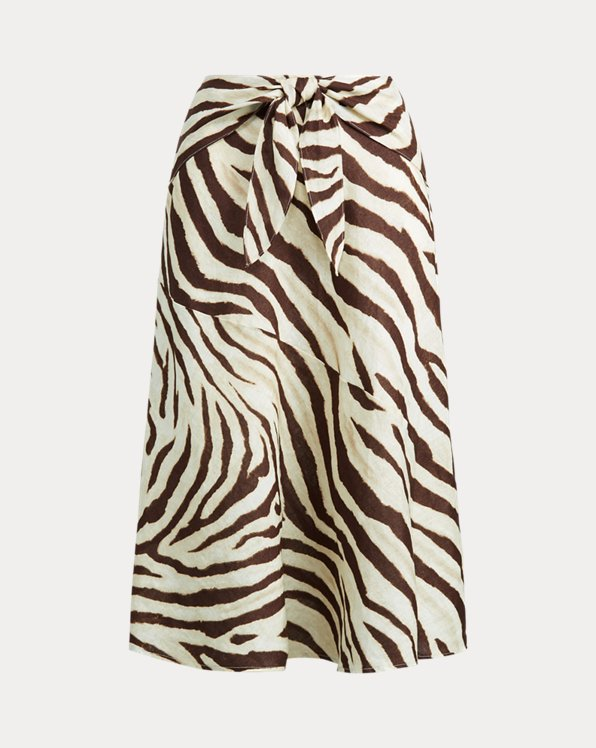 Linen A-Line Skirt