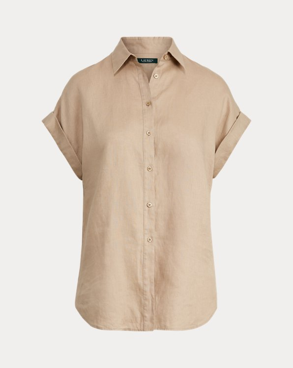 Camicia in lino a manica corta