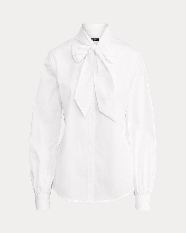 Cotton Tie-Neck Top