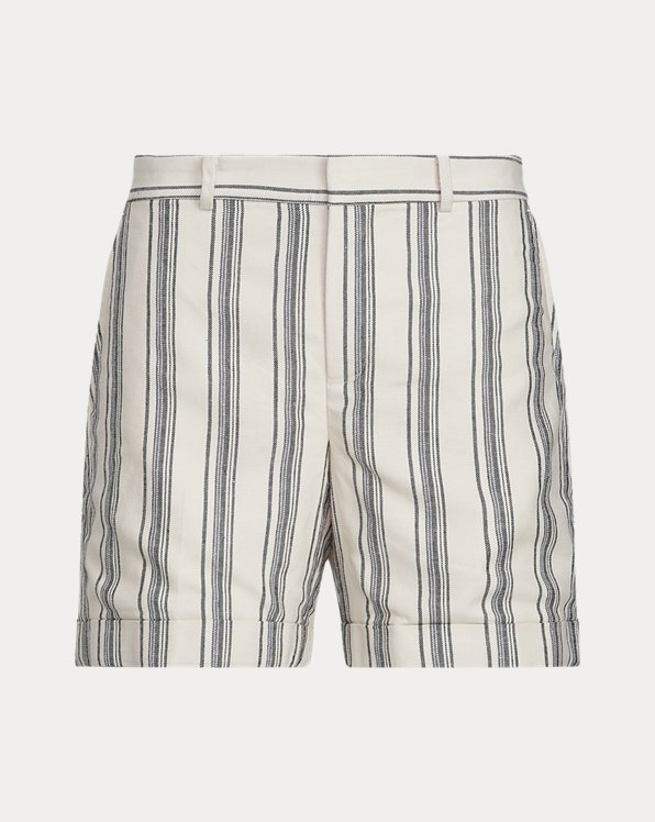Striped Linen Twill Shorts