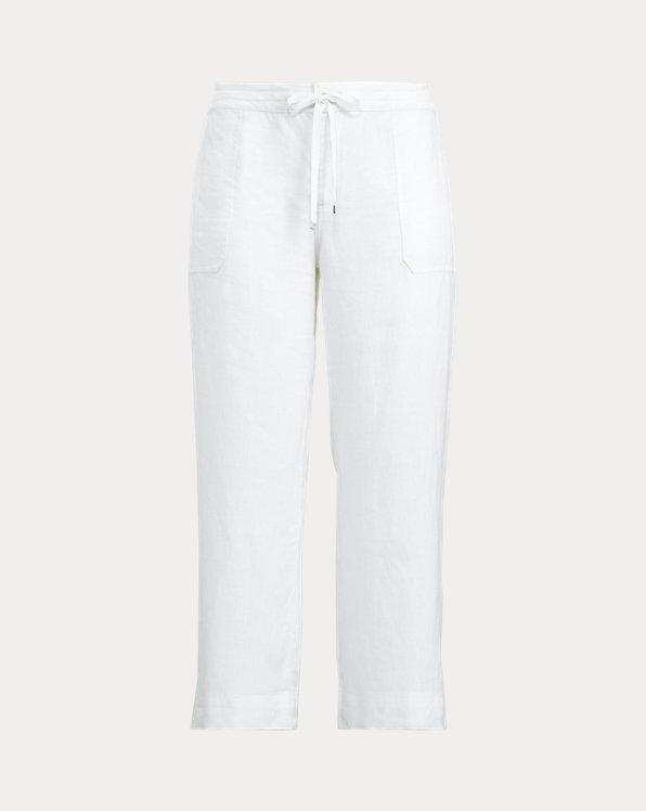 Pantalon en lin à cordon de serrage