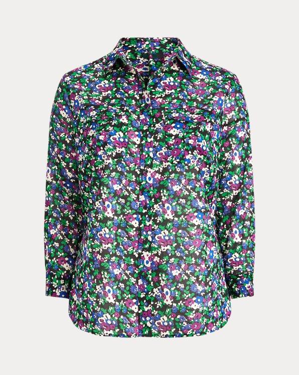 Chemise en coton à imprimé fleuri