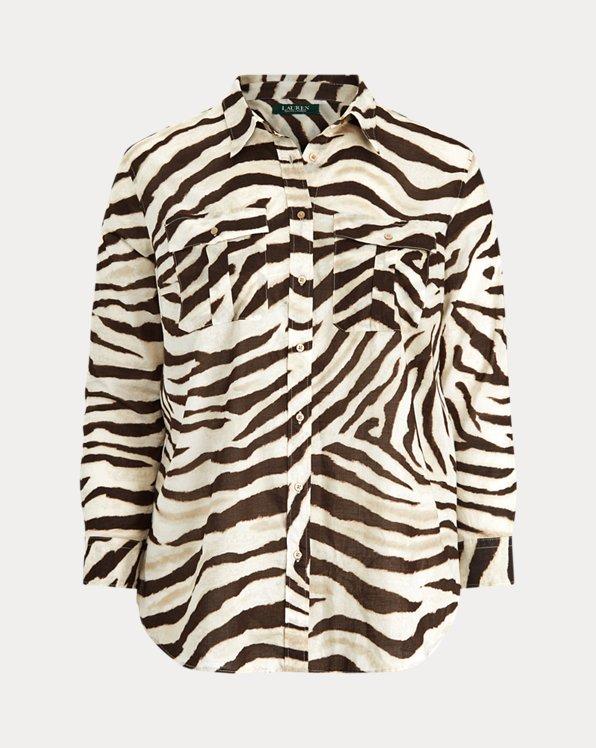Chemise en coton à motif
