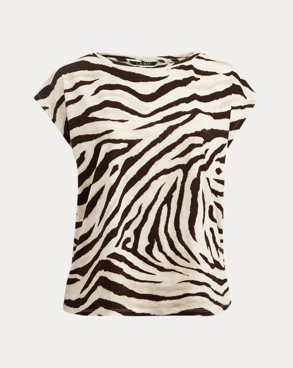 T-shirt dip-dye à motif