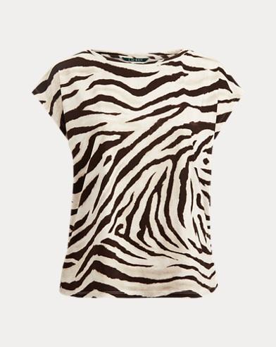Maglietta con stampa effetto dip-dye