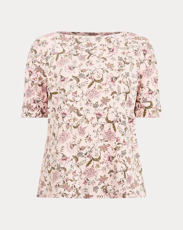 Blusa in misto cotone a fiori