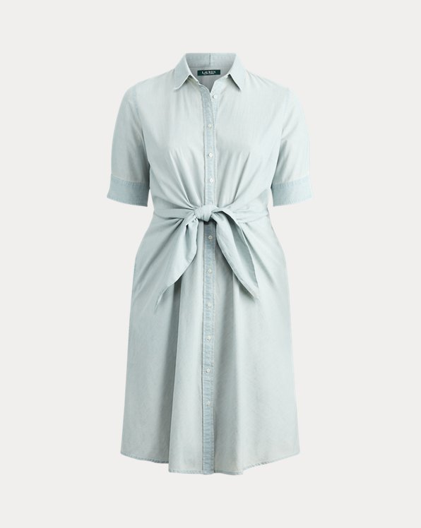 Robe-chemise en chambray