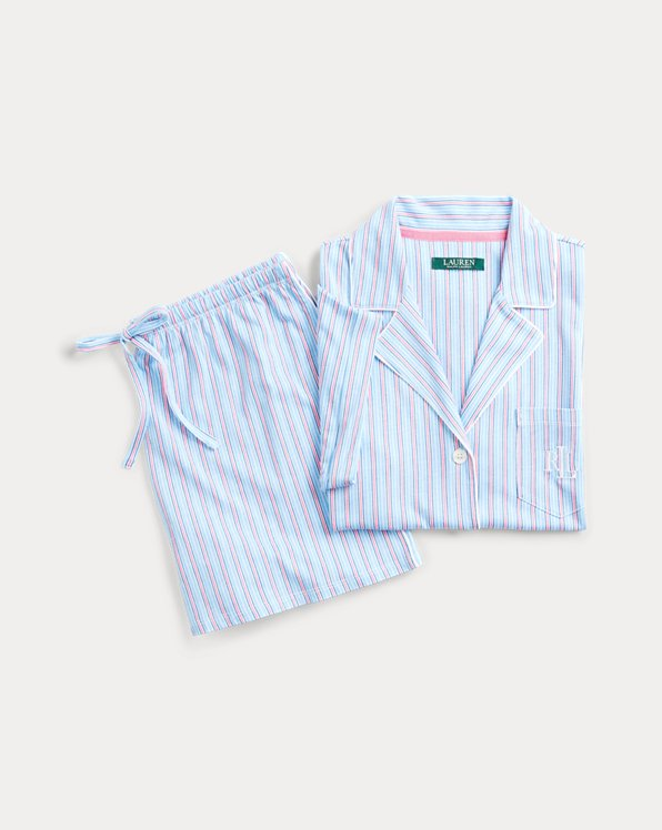Striped Knit Boxer Pyjama Set