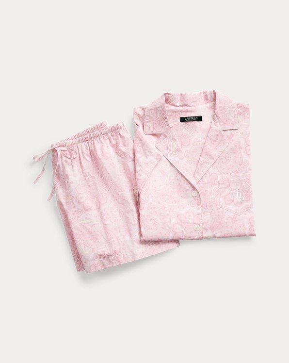 Ensemble pyjama boxer en modal paisley
