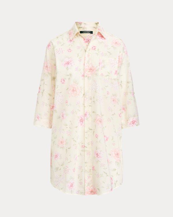Print Roll-Tab Sleep Shirt