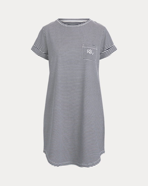 Striped Cotton-Blend Sleep Tee