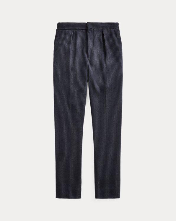 Chalk-Stripe Jersey Trouser