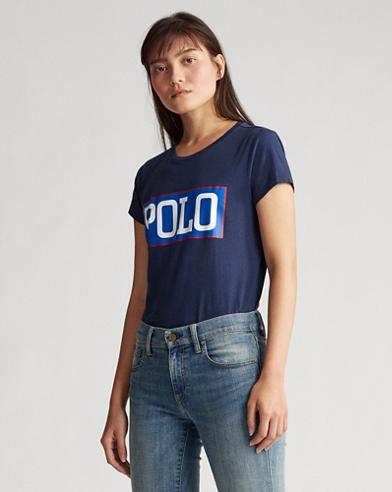 Jersey-T-Shirt mit Polo-Logo