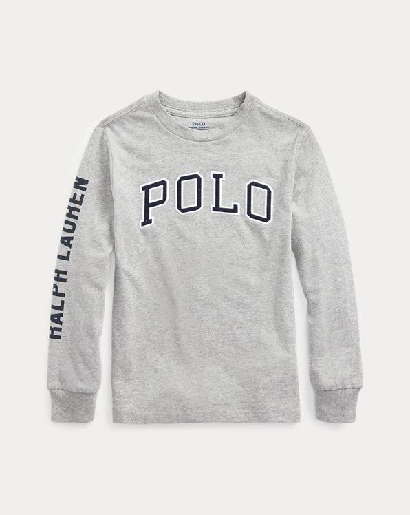 Camiseta de punto de algodón con estampado gráfico
