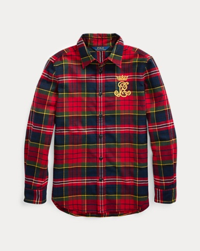 Plaid Cotton Flannel Shirt