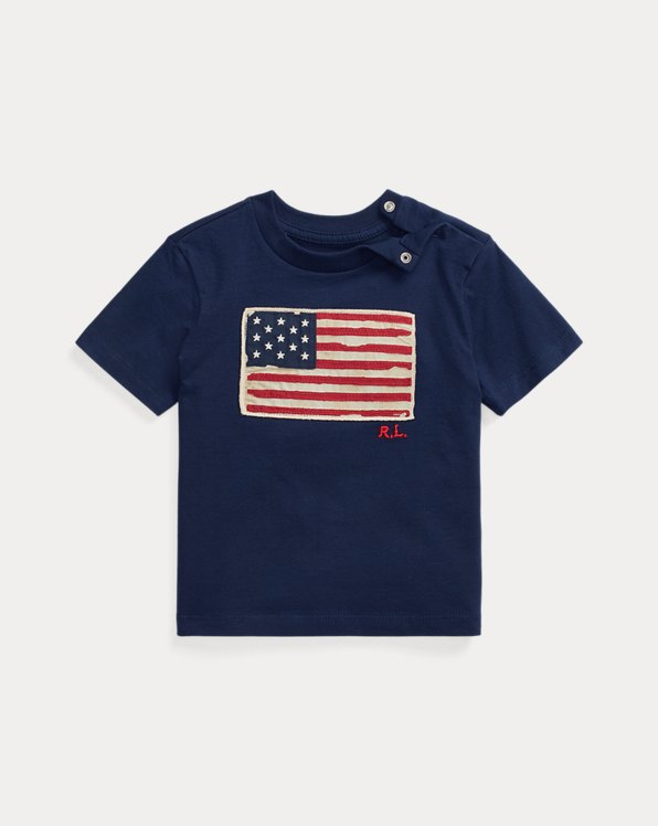 Flag-Patch Cotton Tee