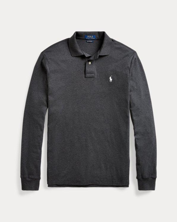 Custom-Slim-Fit Baumwoll-Polohemd