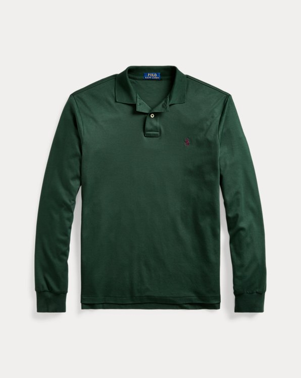 Custom-Slim-Fit Langarm-Polo