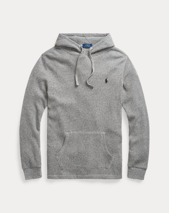Waffle-Knit Cotton Hoodie