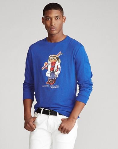 Camiseta Classic Fit con Polo Bear esquiador