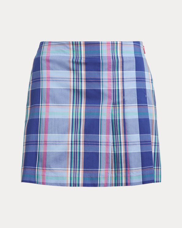 Plaid Stretch Golf Skort