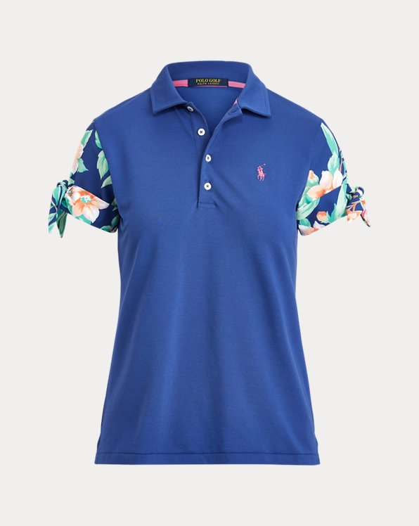 Print-Sleeve Golf Polo