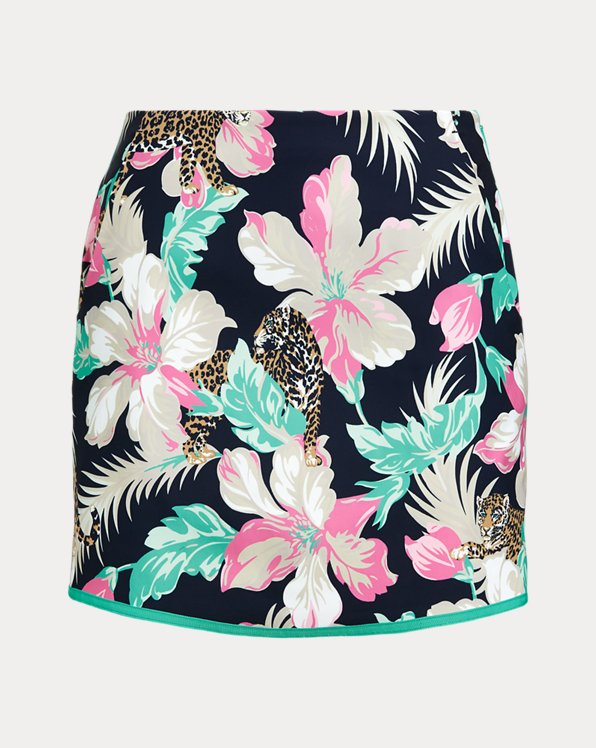 Floral Sateen Golf Skort