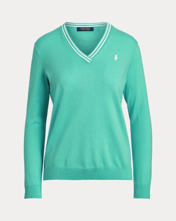 Cotton V-Neck Golf Jumper