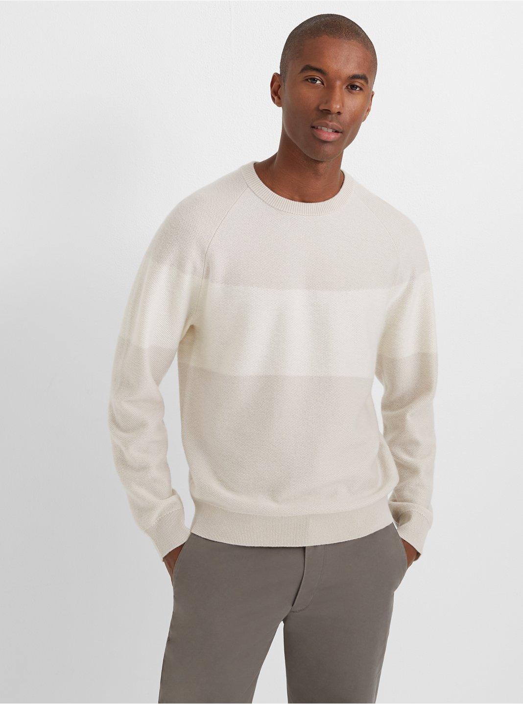 Cashmere Stripe Crew Sweater