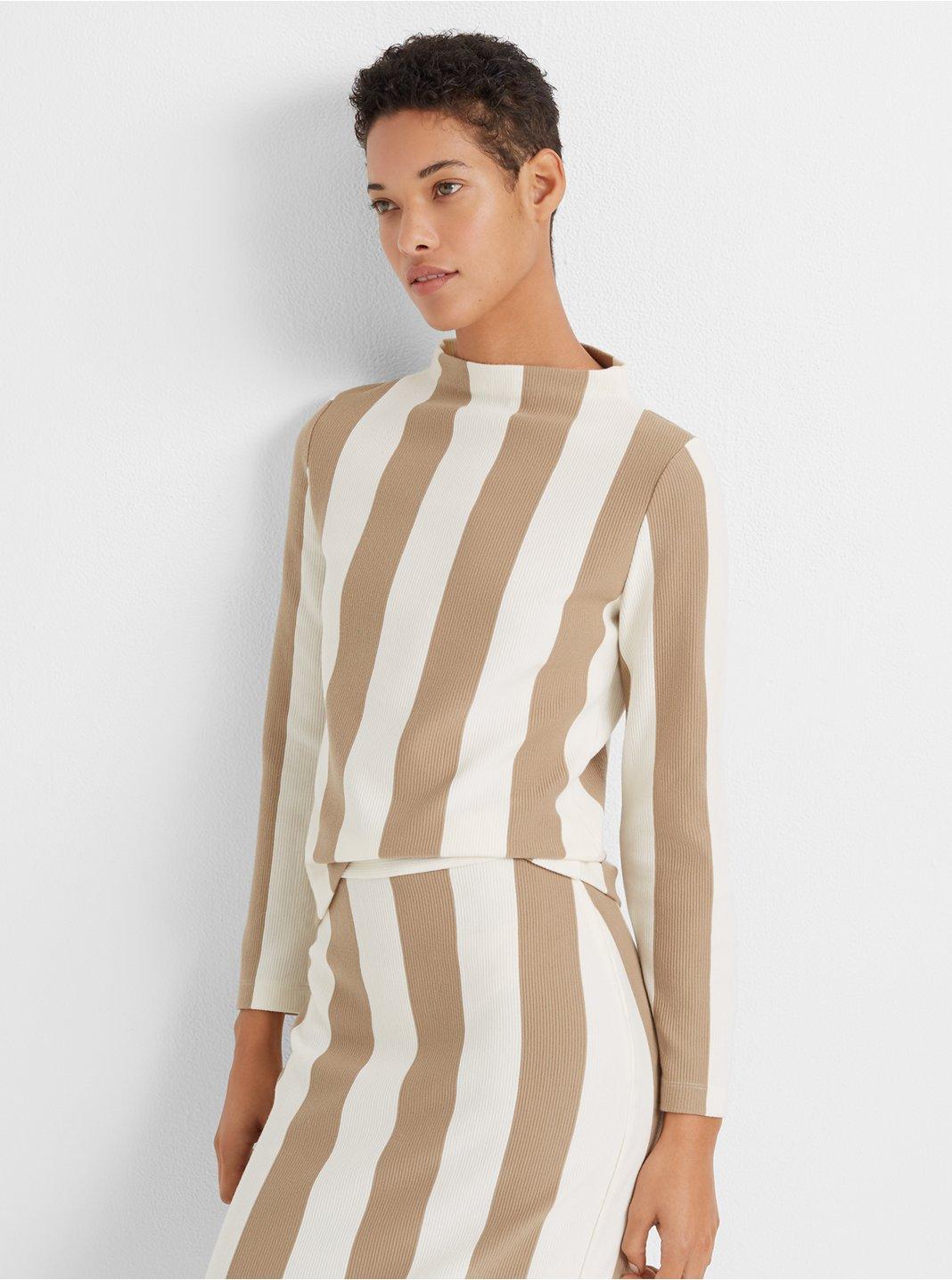 Striped Mockneck Top