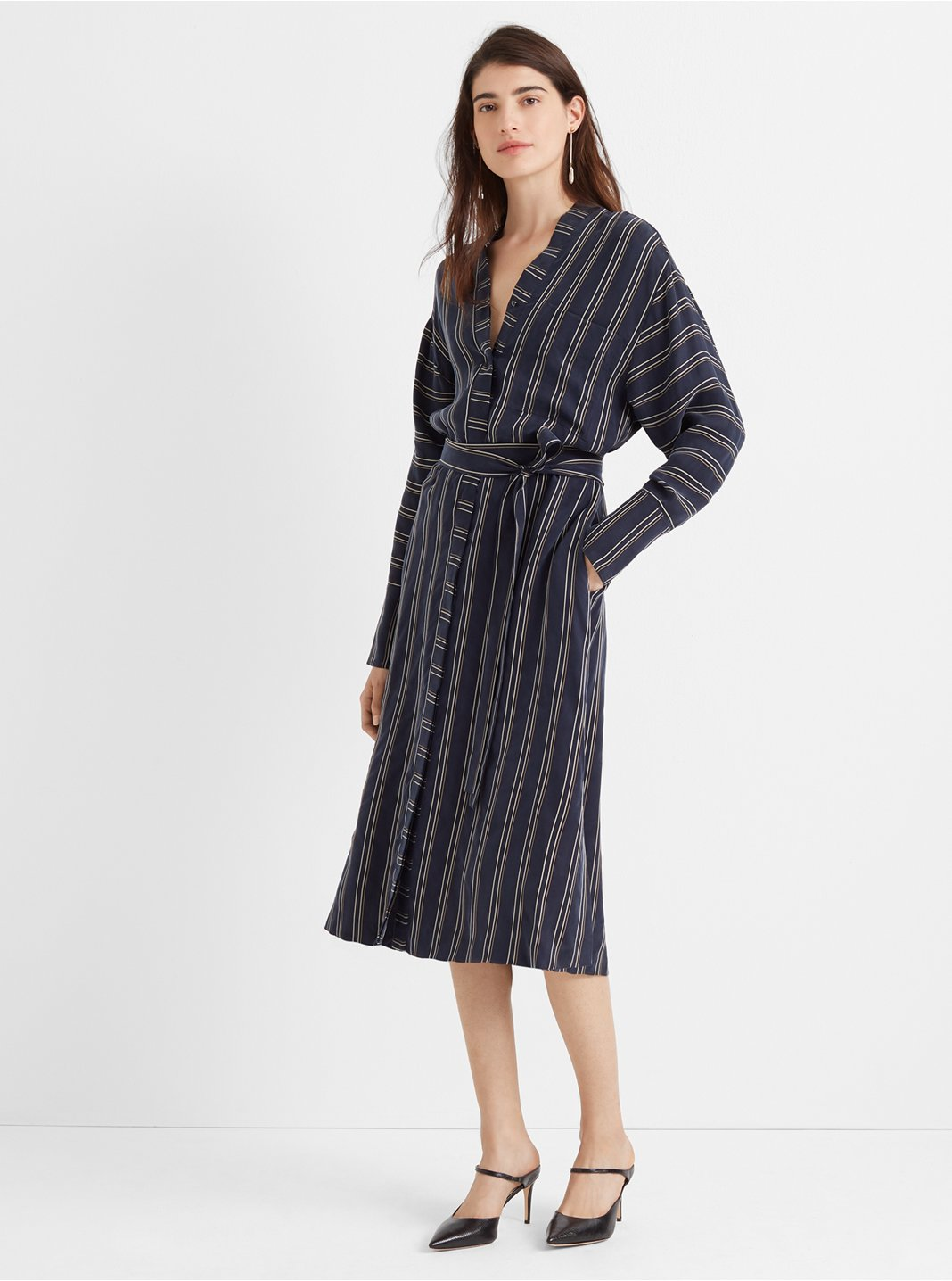 Striped Dolman Shirtdress