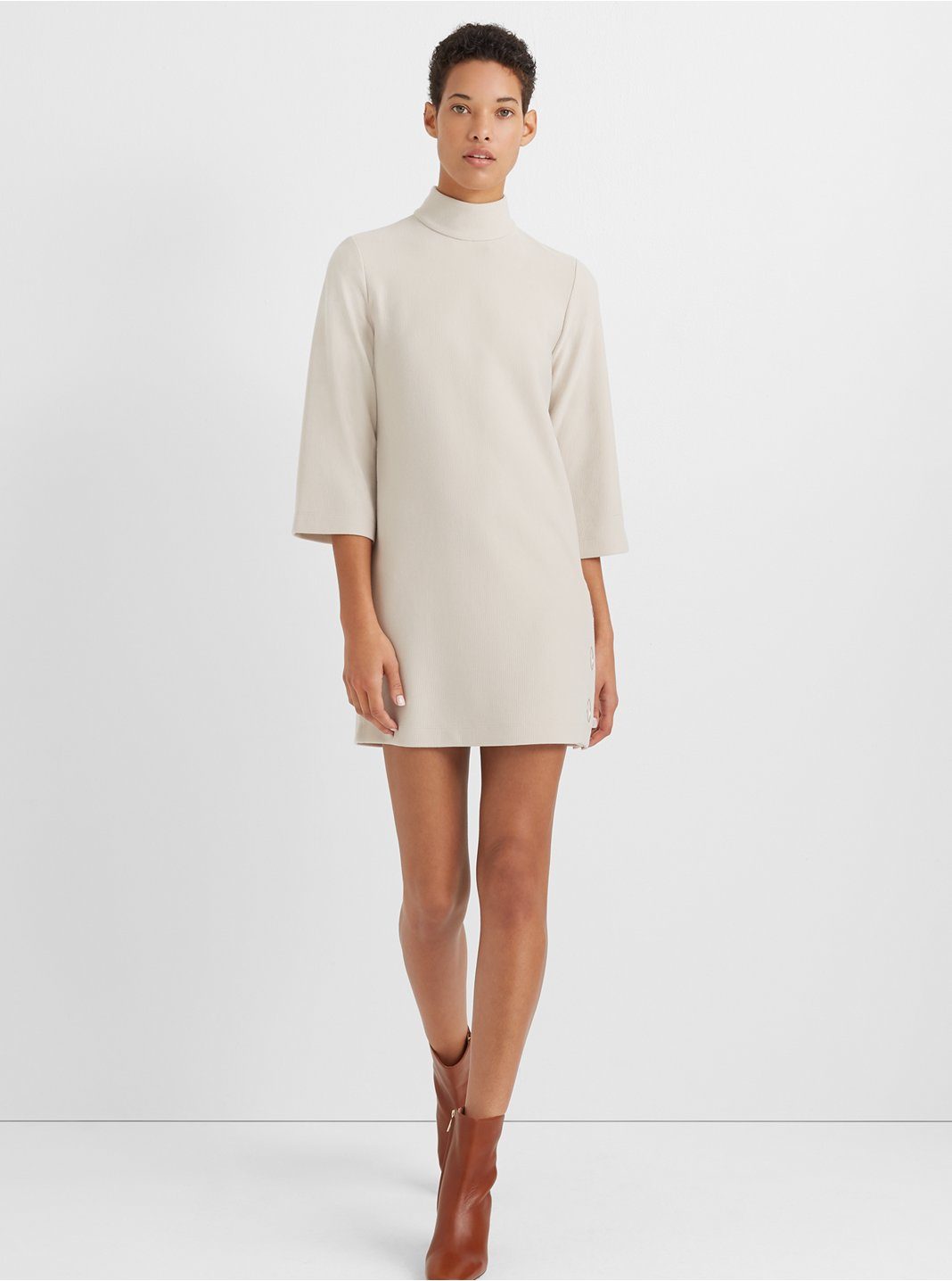 Mockneck Knit Dress