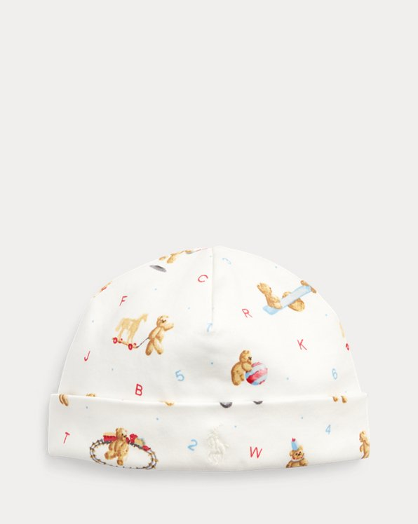 Alphabet Bear Cotton Hat