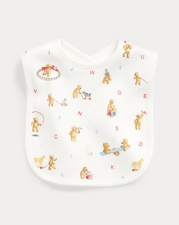 Alphabet Bear Cotton Bib