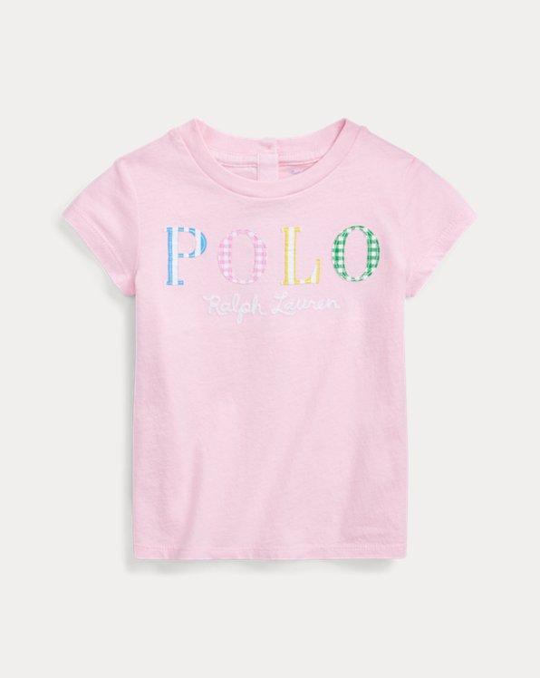Maglietta in cotone con logo Polo